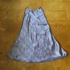 VINTAGE 90s Snakeskin Maxi Skirt
